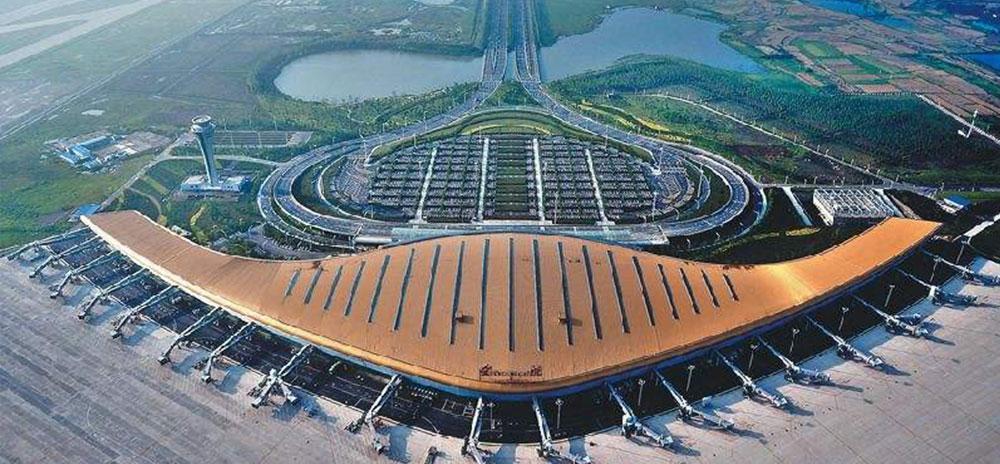 合肥新桥国际机场使用金锐铝方通案例