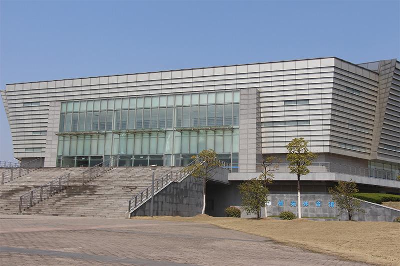 安徽大学体育馆使用金锐氟碳铝单板案例