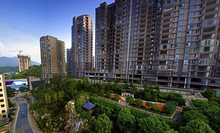 合肥市龙凤嘉园使用金锐仿石材铝单板案例