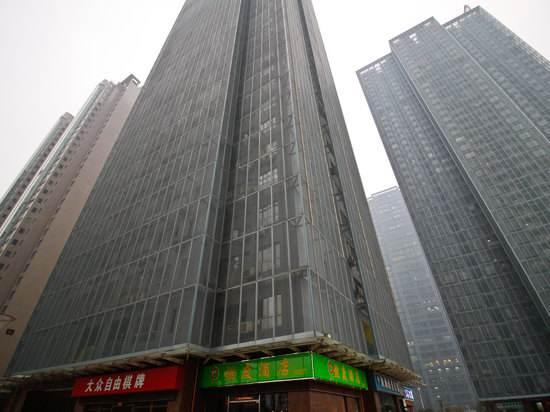 合肥燃能大厦使用金锐仿石材铝单板案例