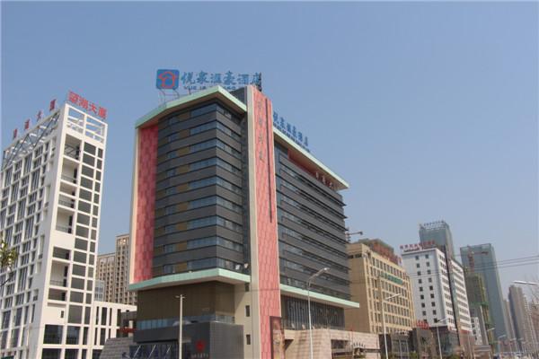 日角大厦使用金锐仿石材铝单板案例