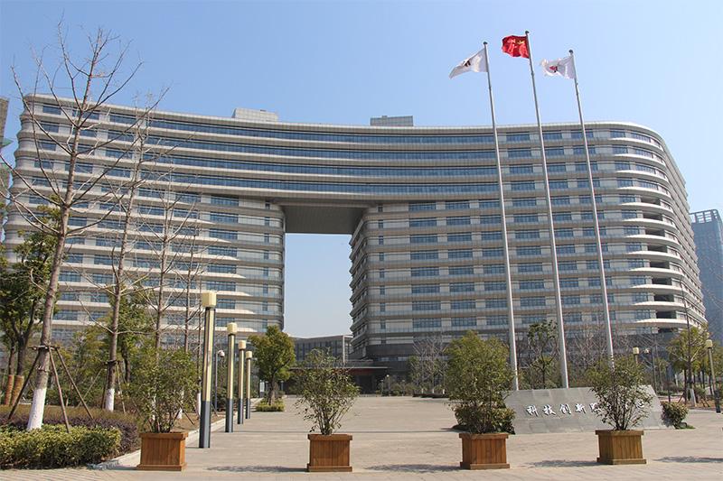 安徽创新大厦使用氟碳铝单板、仿石材铝单板案例