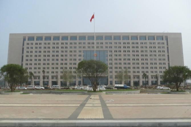 淮南市政府大楼使用金锐仿石材铝单板、异形铝单板案例